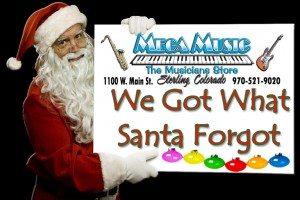 Santa Holding Sign BLACK We Got