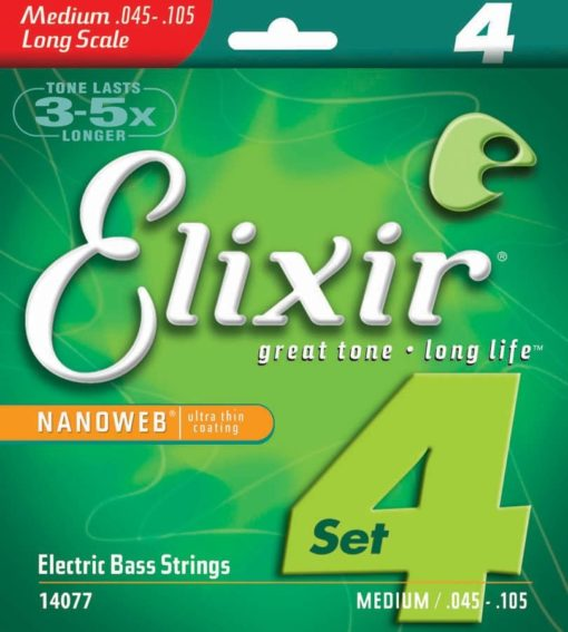 ELIXIR BASS NANO  MEDIUM LONG