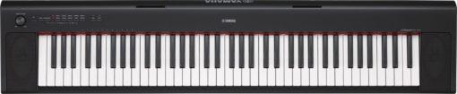 76-key mid-level Piaggero ultra-portable digital piano. Black