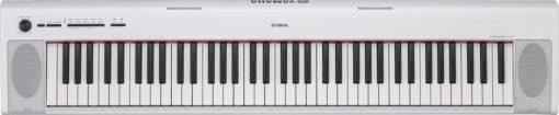 76-key mid-level Piaggero ultra-portable digital piano. White