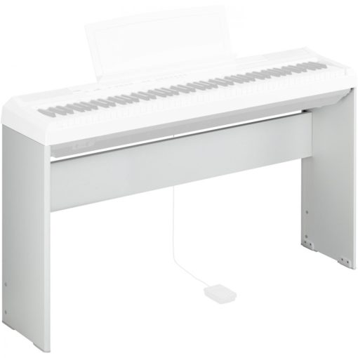 White, wood keyboard stand for P105WH