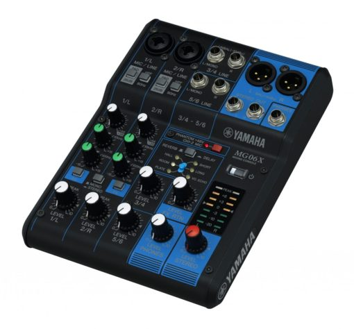 6-INPUT STEREO MIXER WITH EFFECTS