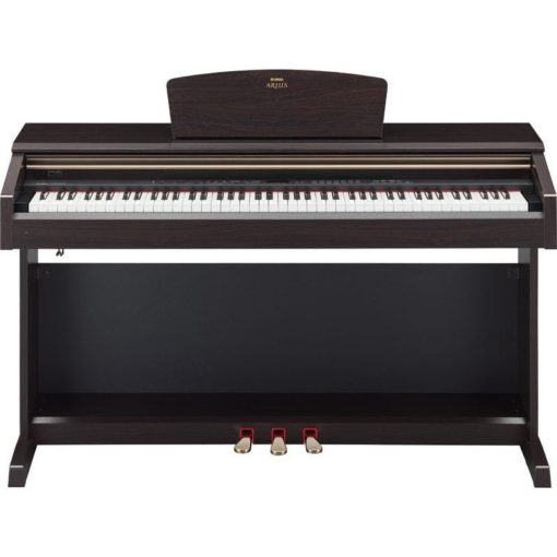 Dark rosewood Arius traditional console digital piano with bench
