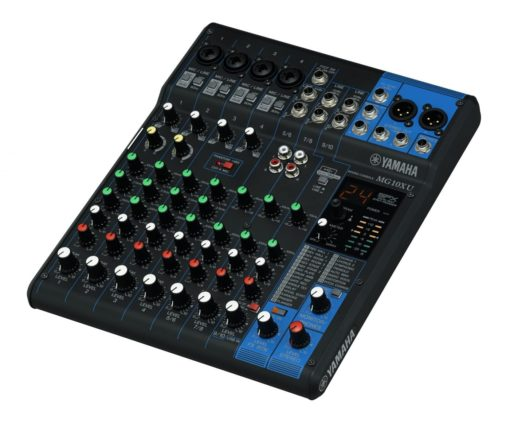 10-INPUT STEREO MIXER WITH EFFECTS AND USB
