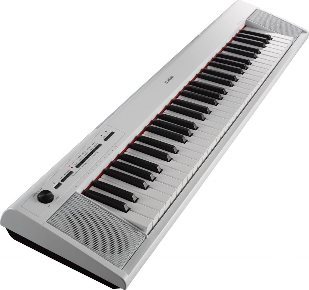 61-key entry-level Piaggero ultra-portable digital piano. White
