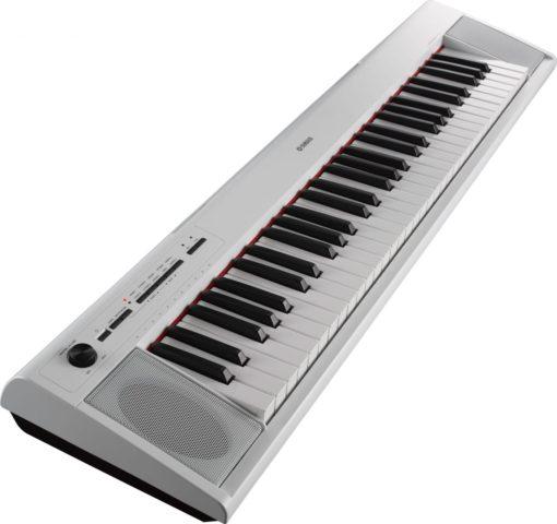 61-key entry-level Piaggero ultra-portable digital piano. White