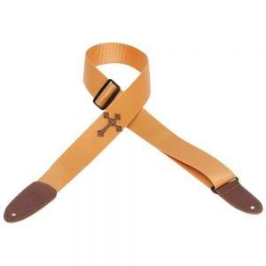 Levy's 2″ wide tan soft-hand polypropylene guitar strap