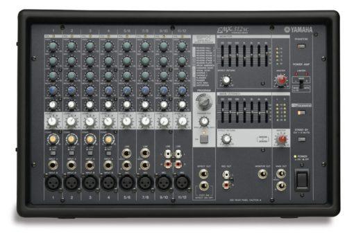 12 INPUT POWERED MIXER W/ DUAL 300 WATT AMP