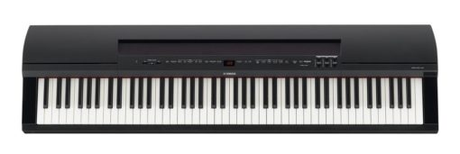 88-key black digital piano w/ polished ebony accents,