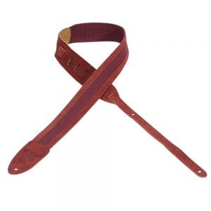 Levy's 2″ wide burgundy cotton guitar strap