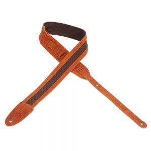 Levy's 2″ wide copper cotton guitar strap