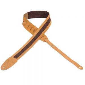 Levy's 2″ wide honey cotton guitar strap