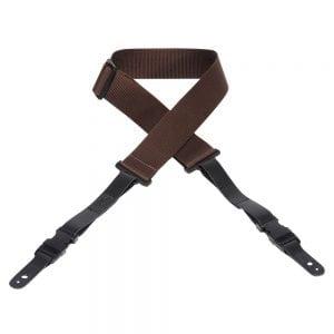 Levy's 2″ wide brown soft-hand polypropylene guitar strap