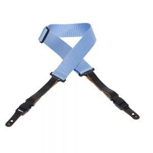 Levy's 2″ wide light blue soft-hand polypropylene guitar strap