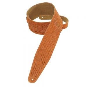 Levy's 3″ wide copper suede guitar strap