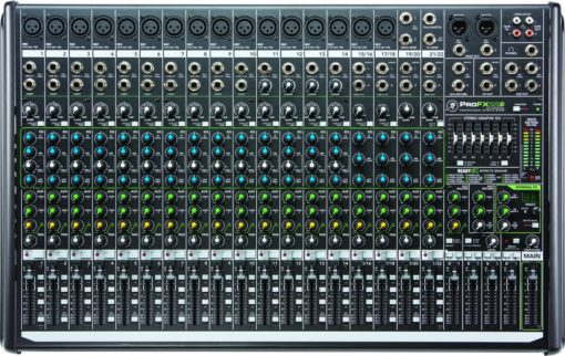 22-ch 4-Bus FX Mixer USB