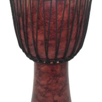 Red Marble Rope Tuned Djembe
