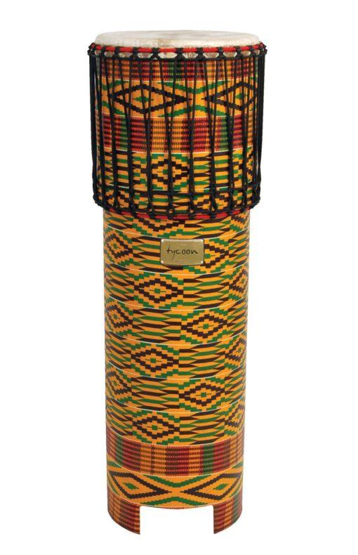 Ngoma Drum with Kente Cloth Finish