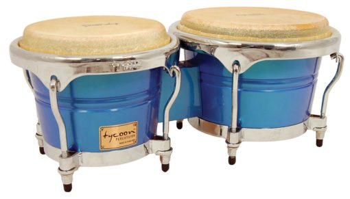 Concerto Series Blue Spectrum Finish Bongos