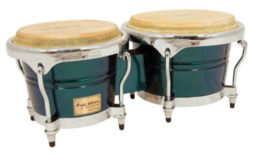 Concerto Series Green Spectrum Finish Bongos