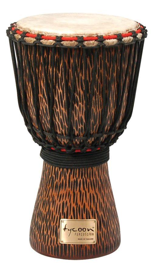 Hand-Carved Chiseled Orange Series Djembe