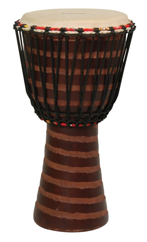 Hand-Carved African Djembe