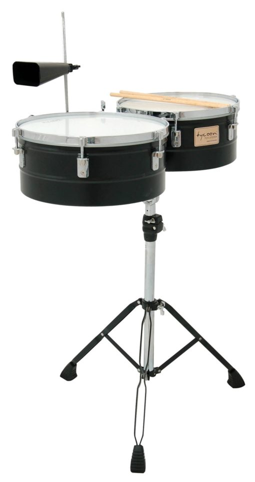 Black Powder-Coated Shell Timbales
