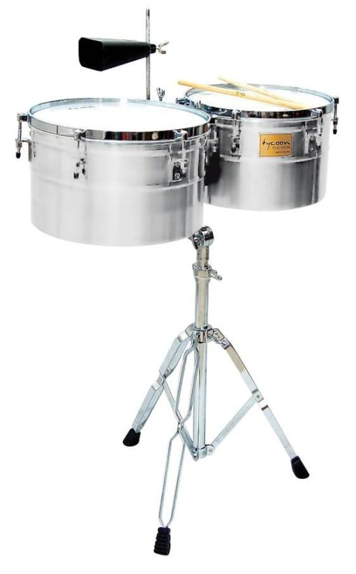 Deep-Shell Chrome Finish Timbales