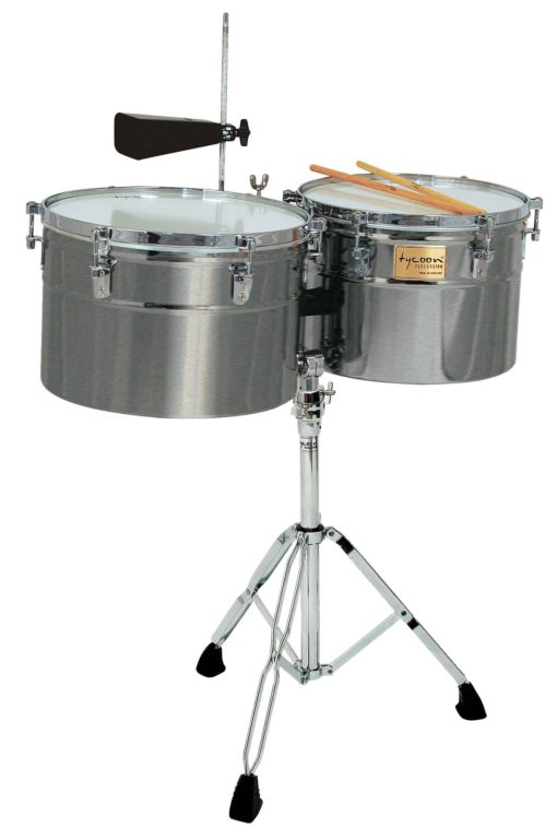 Extra-Deep Shell Brushed Chrome Timbales
