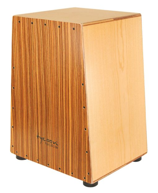 Vertex Series Cajon - American Ash Body and Zebrano Front Plate