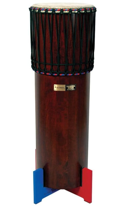 Ngoma Drum with Traditional Dark Brown Finish
