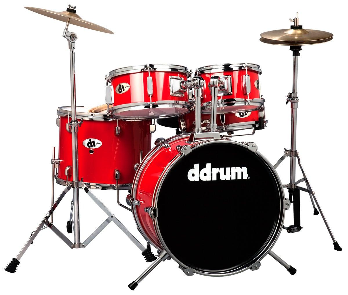 Ddrum D1 Junior Drum Kit W Cymbals Colors Blue Red Black Mega